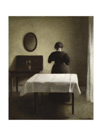 Untitled (Woman with Her Back Turned in a Dark Domestic Interior)