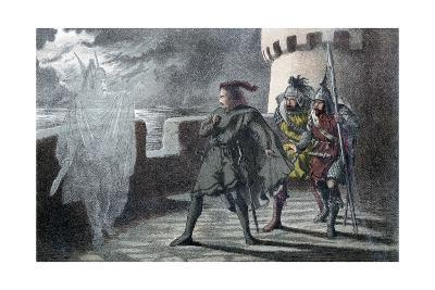Hamlet Seeing His Father's Ghost on the Battlements of Elsinore Castle