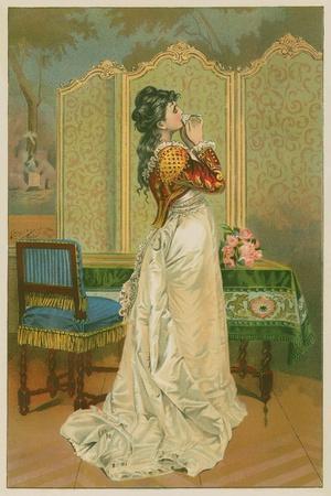 Woman Kissing Love Letter