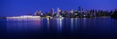 Vancouver Skyline at Night, British Columbia, Canada 2013
