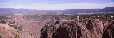 Suspension Bridge across a Canyon, Royal Gorge Suspension Bridge, Colorado, USA