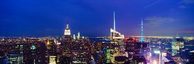 Buildings Lit Up at Dusk, Manhattan, New York City, New York State, USA