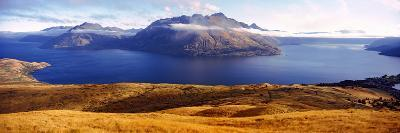 Views of Cecil and Walter Peaks from Deer Park Heights, Lake Wakatipu, South Island, New Zealand