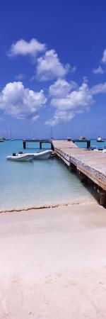 Boats Moored at a Pier, Sandy Ground, Anguilla