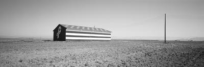 Flag Barn Along Highway 41, Fresno, California, USA