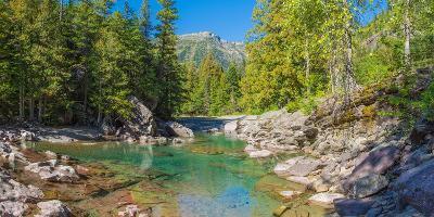 Mcdonald Creek Along Going-To-The-Sun Road at Us Glacier National Park, Montana, USA