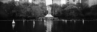 Toy Boats Floating on Water, Central Park, Manhattan, New York City, New York State, USA