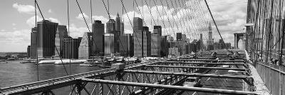 Traffic on a Bridge, Brooklyn Bridge, Manhattan, New York City, New York State, USA