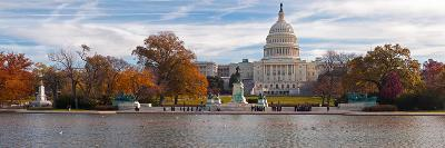 Fall View of Reflecting Pool and the Capitol Building, Washington Dc, USA