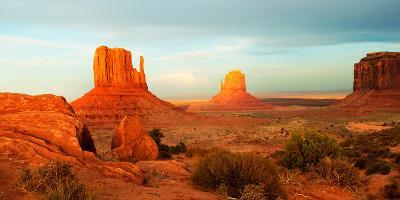 Buttes Rock Formations at Monument Valley, Utah-Arizona Border, USA