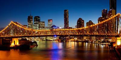 Bridge across a River, Story Bridge, Brisbane River, Brisbane, Queensland, Australia
