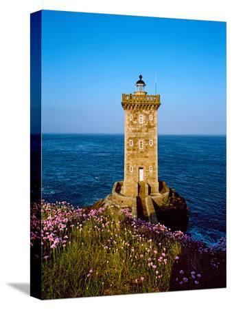 Lighthouse at the Coast, Kermorvan Lighthouse, Finistere, Brittany, France