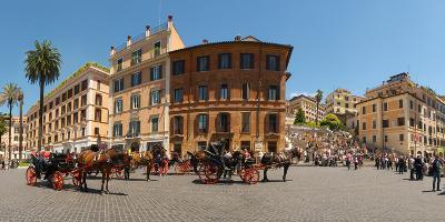 Tourists at Spanish Steps, Piazza Di Spagna, Rome, Lazio, Italy