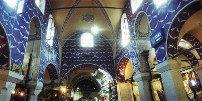 Interiors of a Market, Grand Bazaar, Istanbul, Turkey