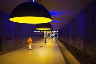 Interiors of an Underground Station, Westfriedhof, Munich U-Bahn, Munich, Bavaria, Germany