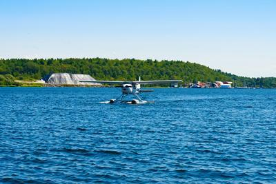 Seaplane in the Sea, Deep Bay, Parry Sound, Ontario, Canada