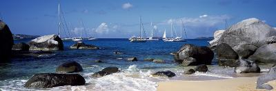 Sailboats in the Sea, the Baths, Virgin Gorda, British Virgin Islands
