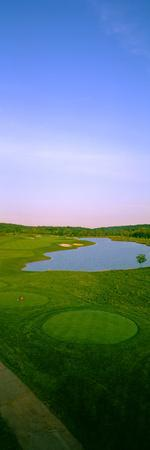 Aerial View of a Golf Course, Caves Valley Golf Club, Owings Mills, Baltimore County, Maryland, USA