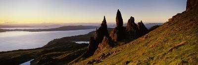 Rock Formations on the Coast, Old Man of Storr, Trotternish, Isle of Skye, Scotland