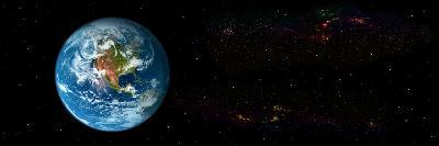 Earth in Space Showing North Americas (Photo Illustration)