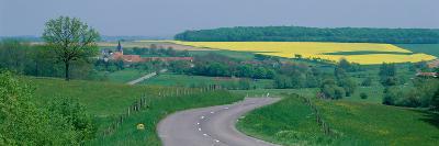 Country Road Near Dijon France