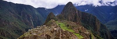 Ruins of Buildings at an Archaeological Site, Inca Ruins, Machu Picchu, Cusco Region, Peru