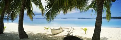 Outrigger Boat on the Beach, Aitutaki, Cook Islands
