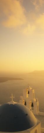 High Angle View of a Church, Firostefani, Santorini, Cyclades Islands, Greece