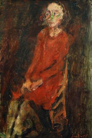 Young Woman in Red, Jeune Femme en Rouge, 1928