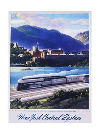 New York Central System, the New Empire State Express Poster