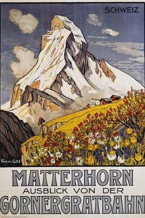 Matterhorn Travel Poster by Francois Gos