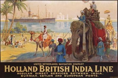 Holland British India Line Poster