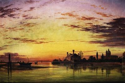 Sunset on the Laguna of Venice, Italy