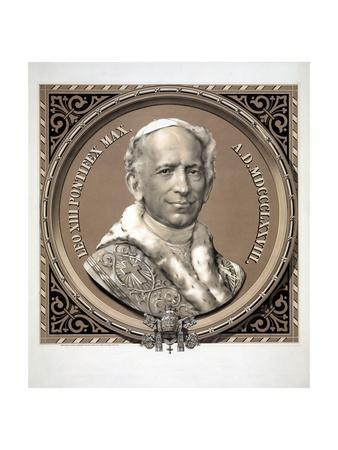 Bust Portrait of Pope Leo XIII