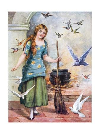 Cindarella with Doves