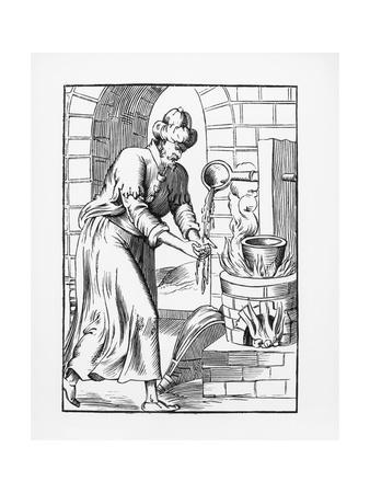 Illustration of the Gypsy Who Washed His Hands in Molten Lead