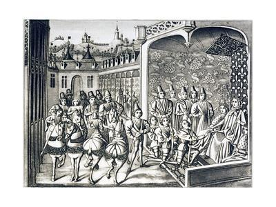 Embassy of the King of England to Ask the Hand in Marriage of the Lady Isabella of France