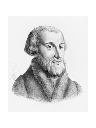 Engraved Portrait of Simon Grynaeus