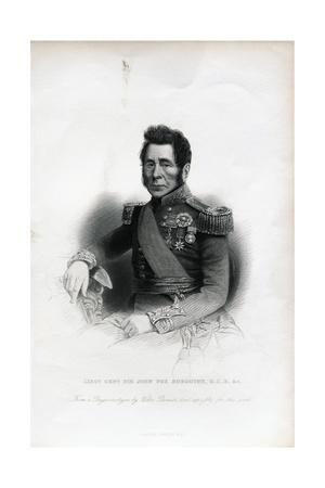 Lieutenant General Sir John Fox Burgoyne Engraving
