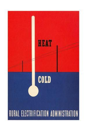 Heat and Cold, Rural Electrification Administration Poster
