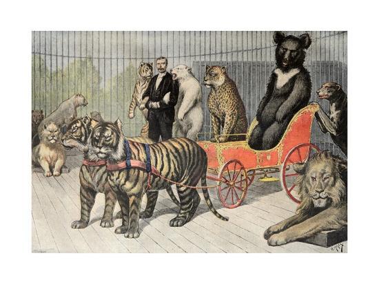 Jardin D Acclimatation Paris Zoo 1895 Giclee Print