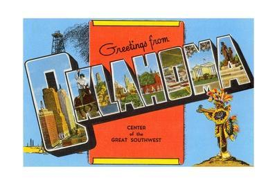 Greetings from Oklahoma, Center of the Great Southwest