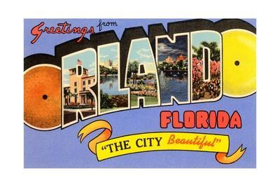 Greetings from Orlando, Florida, the City Beautiful