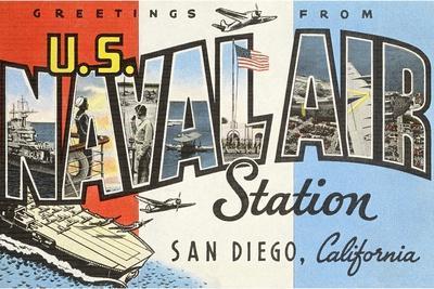 Greetings from U.S. Naval Air Station, San Diego, California