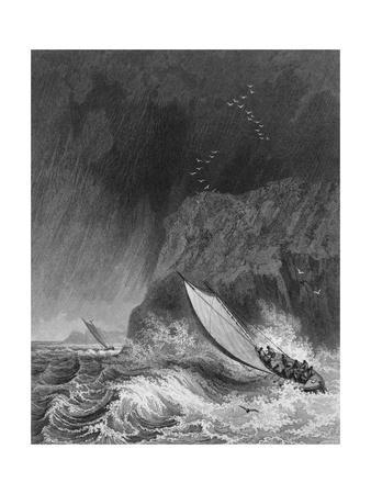 Illustration of Parry's Boats in a Snow Storm Off Walden Island