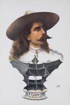 S.F. Cody War Kite Advertising Poster