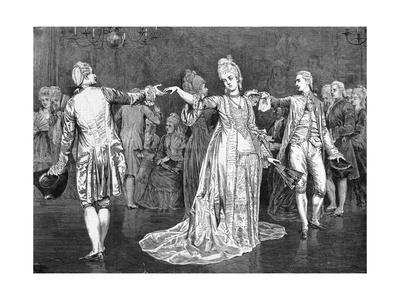 Painting of Couples Dancing the Minuet