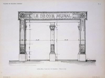 Plan of the Facade of Le Decor Mural Shop in Paris