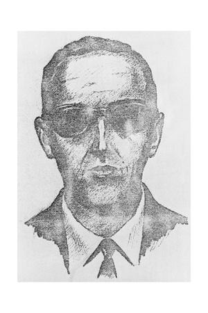 Sketch of Highjacking Suspect D. B. Cooper
