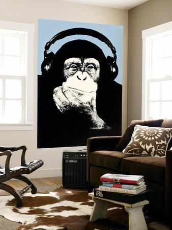 Headphone Chimp - Blue